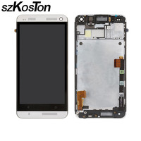 AAA LCD Display For HTC One M7 LCD With Touch Screen Digitizer Full Assembly Bezel Frame