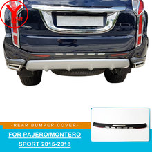 цена на car rear bumper protector For mitsubishi pajero sport 2016 2017 2018 rear step car styling accessories For montero sport YCSUNZ