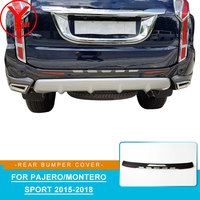 car rear bumper protector For mitsubishi pajero sport 2016 2017 2018 rear step car styling accessories For montero sport YCSUNZ