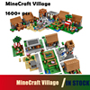 Compatible With Lego 1600 Pcs Model Building Kits My Worlds MineCraft Village Blocks Educational Toys Hobbies