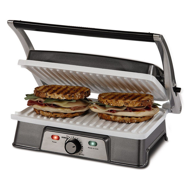 Burger Grill Sandwich Maker 2 slice Panini Maker Press Steak