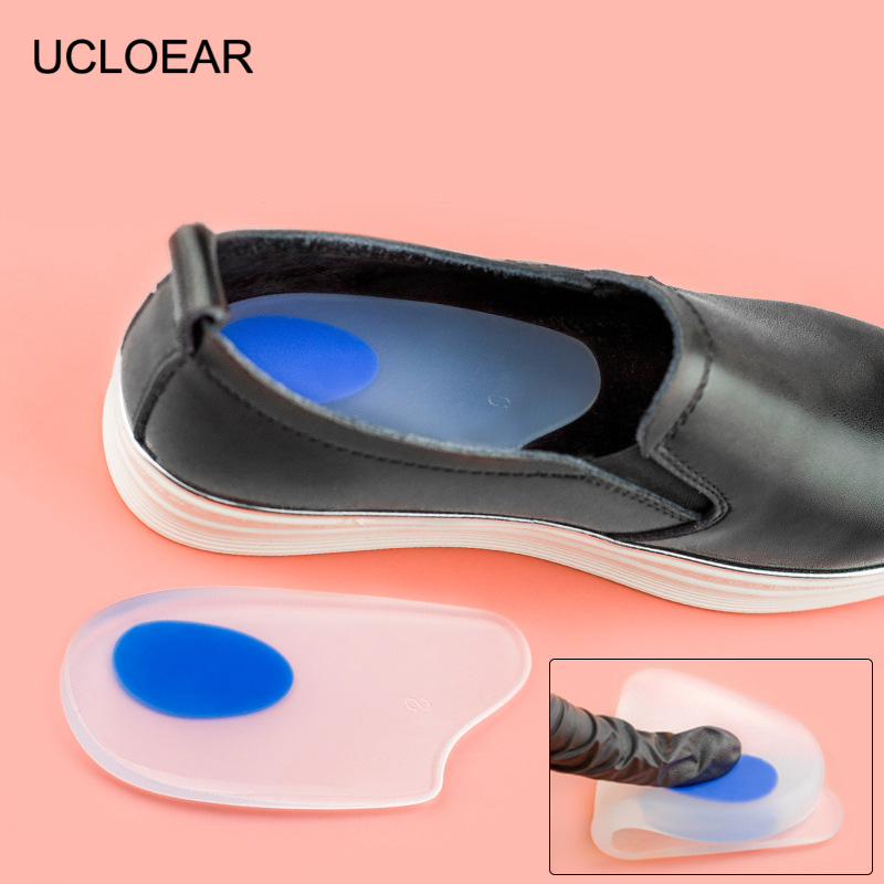 UCLOEAR Silicone Heel Cushions For Shoes Shock Absorbant Heel Protector Gel Foot Care Insoles For Shoes Soft Shoe Insert Cushion