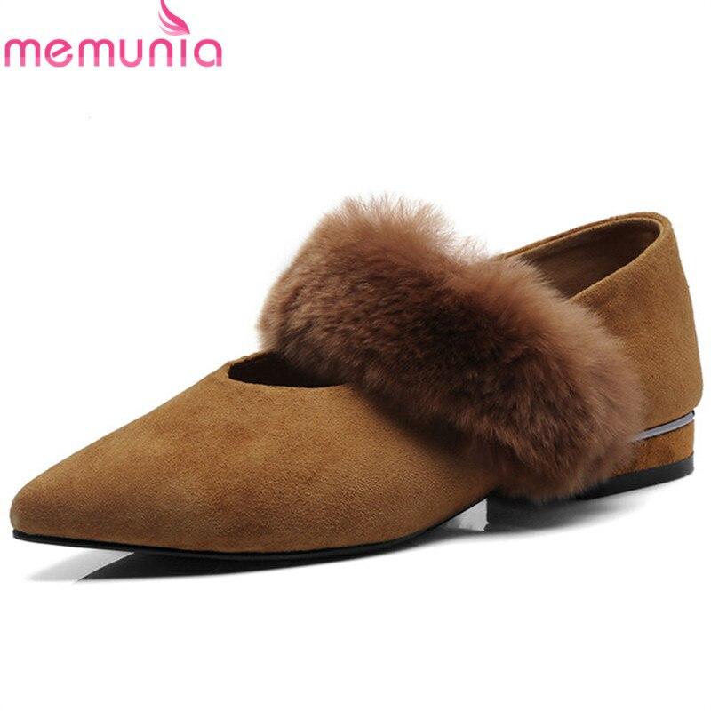 Printemps Femmes Été Noir Boucle Bout 2018 Arrivée De Profonde Nouvelle Mode Memunia brown Femme Pointu Peu Chaussures Pompes tqH807aw