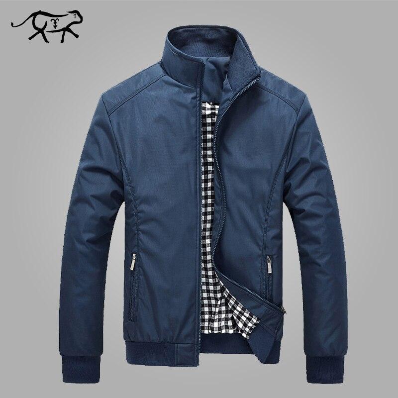 Jacke Männer Frühling Herbst der Männer Neue Beiläufige Jacken Regelmäßige Stehkragen Slim Fit Dünne Mantel Männlichen Mäntel Wind Breaker großhandel