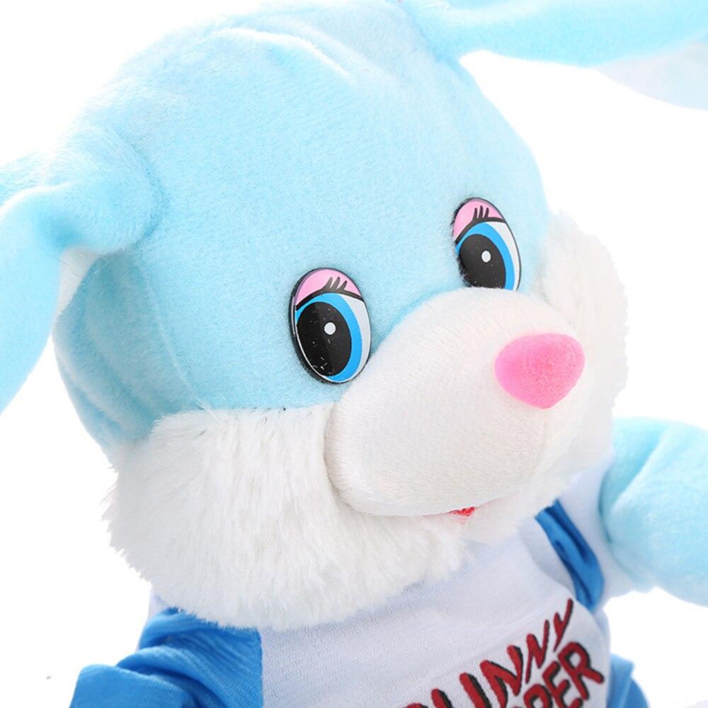 Танцы кролик электрическая кукла уха-кролик, качая электрическая игрушка плюшевая подарок кукла День защиты детей Симпатичные модели вечерние дерево декор игрушка