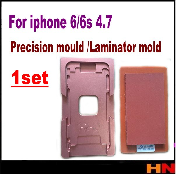 """imágenes para 1 Unidades precisión molde de aluminio para iphone 6g 6 s 4.7 """"laminador molde de metal para el vidrio frontal con marco de Ubicación de la oca de usuario"""