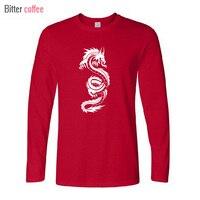 2018 NEW Winter Autumn T Shirt Chinese Dragon Tribal T Shirts Men Print Long Sleeve Tops
