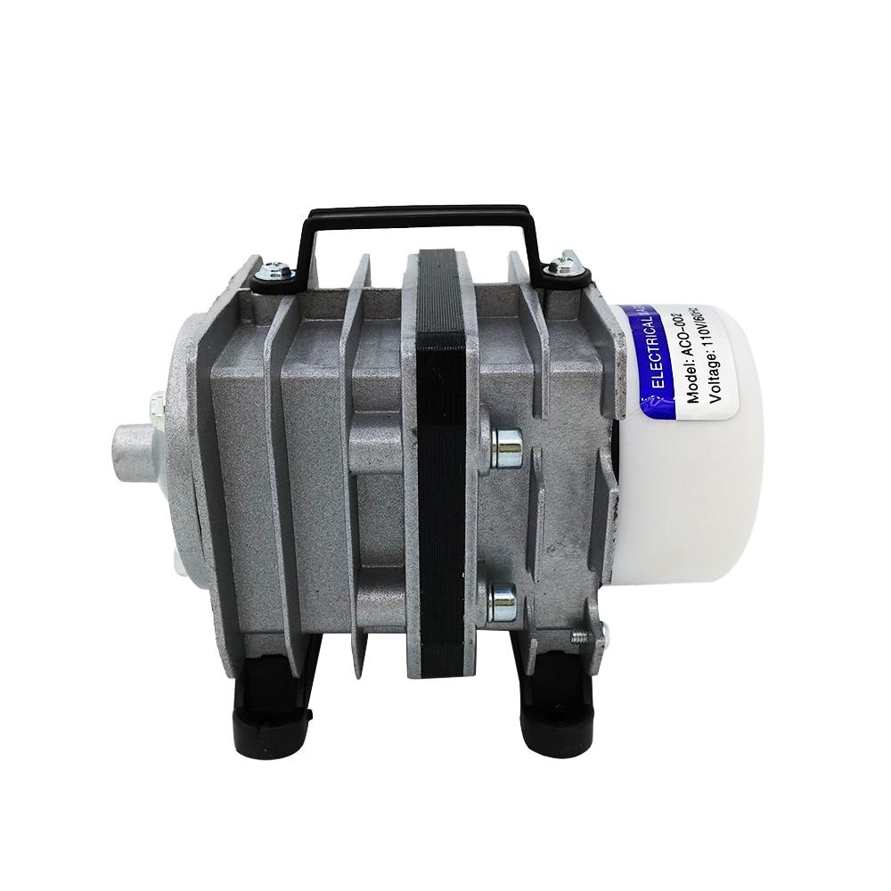 Electromagnetic Aquarium Air Pump Oxygen Tank Aquarium Air Compressor Pond 110V Compressor For Aquarium Fish new resun aco 008 high quality 120w 0 110m3 min aquarium fish tank pond electromagnetic air compressor pump new