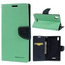 Для Sony Xperia T3 чехол Mercury Goospery Необычные Дневник Магнитный кожаный Стенд чехол для Sony Xperia T3 D5102 D5103 D5106