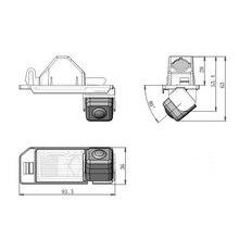 Para Mitsubishi ASX RVR Outlander Esporte 100% Real HD CCD carro Rear view reversa backup de estacionamento camera 170 graus 520TVL câmera