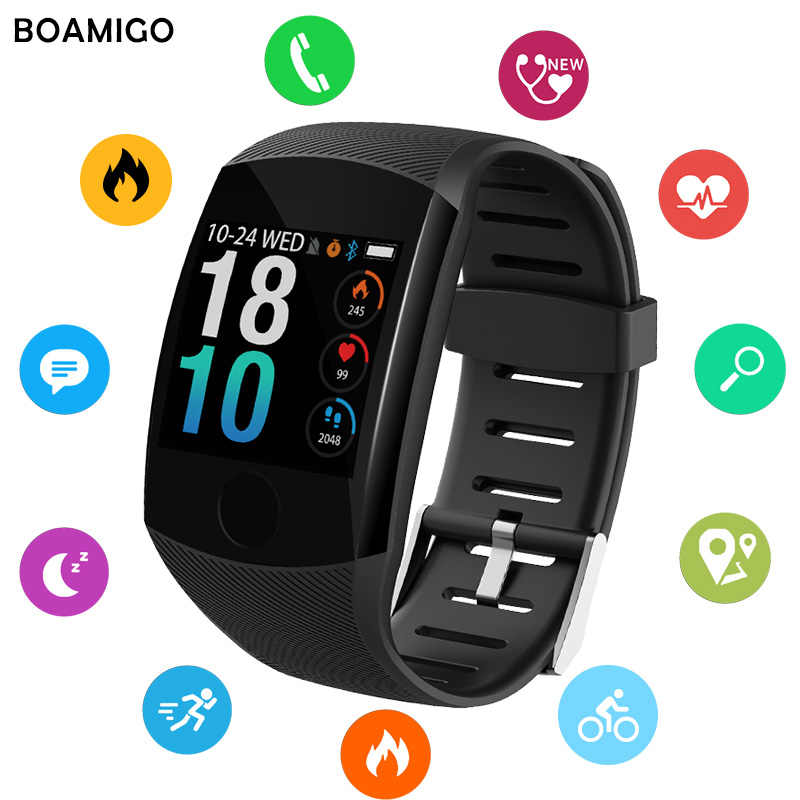 Bluetooth Smart Watches BOAMIGO Brand Bracelet Wristband Heart Rate Sleep Monitoring For IOS Android Phone Sport Fitness Watch
