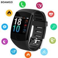 بلوتوث الساعات الذكية BOAMIGO العلامة التجارية سوار معصمه رصد معدل ضربات القلب النوم ل IOS أندرويد الهاتف الرياضة اللياقة البدنية ساعة