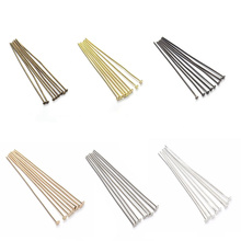 200pcs/bag 18 20 24 26 28 30 35 40mm Flat Head Pins Gold Silver Headpins For DIY Jewelry Making Findings Accessories Supplies