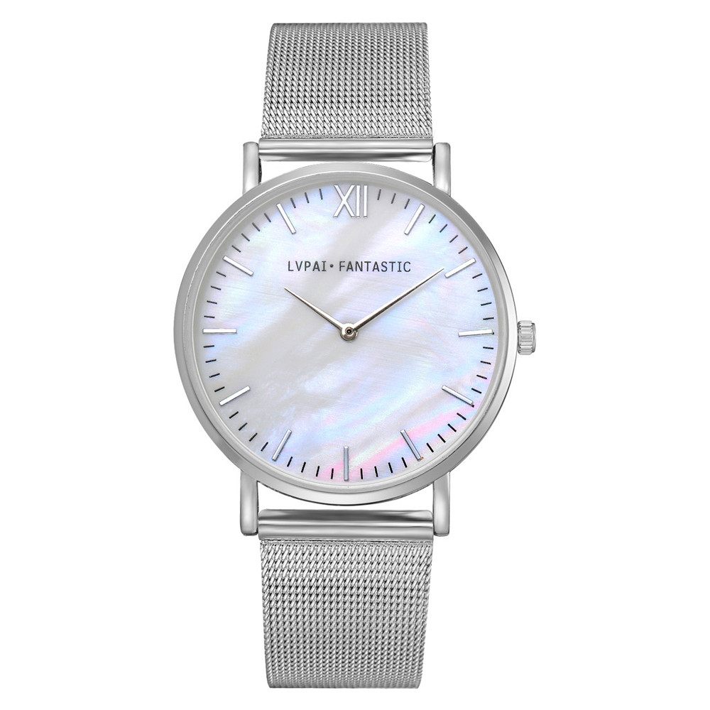 Women Watch  Fashion Rose Gold Mesh Band Creative Marble Wrist Watch Casual Women Watches Brand Quartz Gift Relogio
