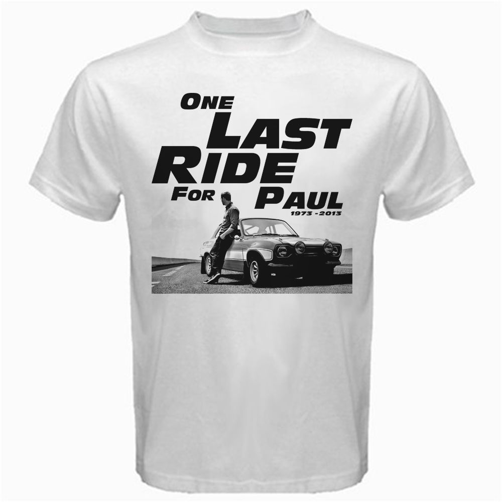 9bb50b028 Fast and Furious 7 One Last Ride for Paul Walker T Shirt men design t shirt  US standard plus size S 3XL factory outlet wholesale-in T-Shirts from Men's  ...