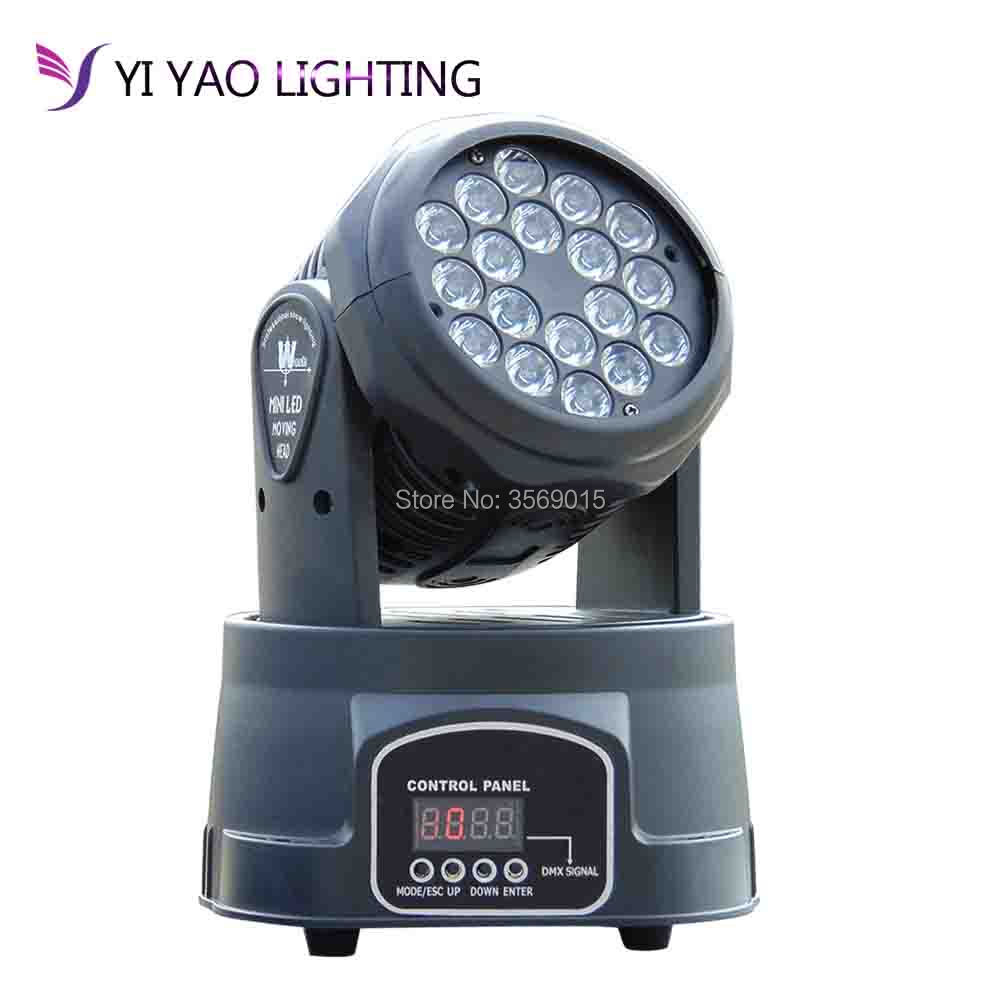 Professional 18x3w wash moving head LED RGB Colors Mixing Dmx Stage Lights