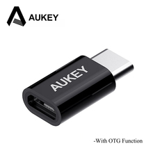 AUKEY USB Adapter Type C to Micro USB OTG Fast Charger 3.0 Type-C Cable USB-C Adapter For Samsung S9 S8 Plus Xiaomi mi8 Macbook