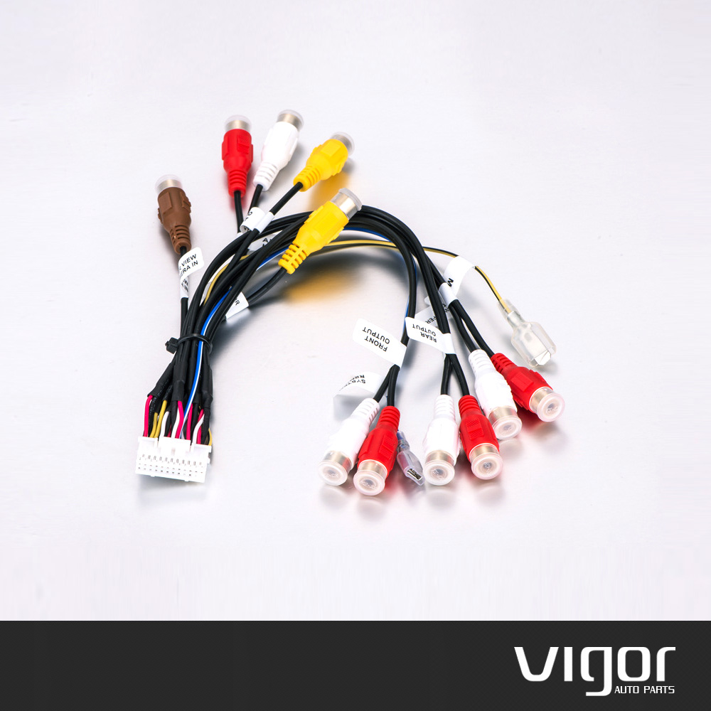 medium resolution of  24 pin plug car stereo radio rca output wire harness wiring connector adaptor cable for pioneer