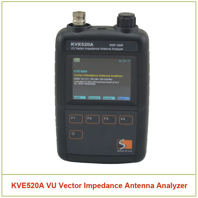 Kve520a VHF / UHF VU Vector impedancia antena Analyzer con 5 unids adaptadores para Amateur HAM Radios Vector Radio KVE 520A Vector