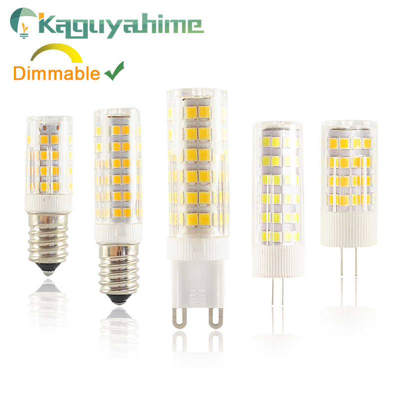 Kaguyahime Dimmable LED G4 G9 E14 Lamp bulb Ceramics DC 12V AC 220V 3W 6W 9W COB G9 led G4 for chandelier replace halogen lamps