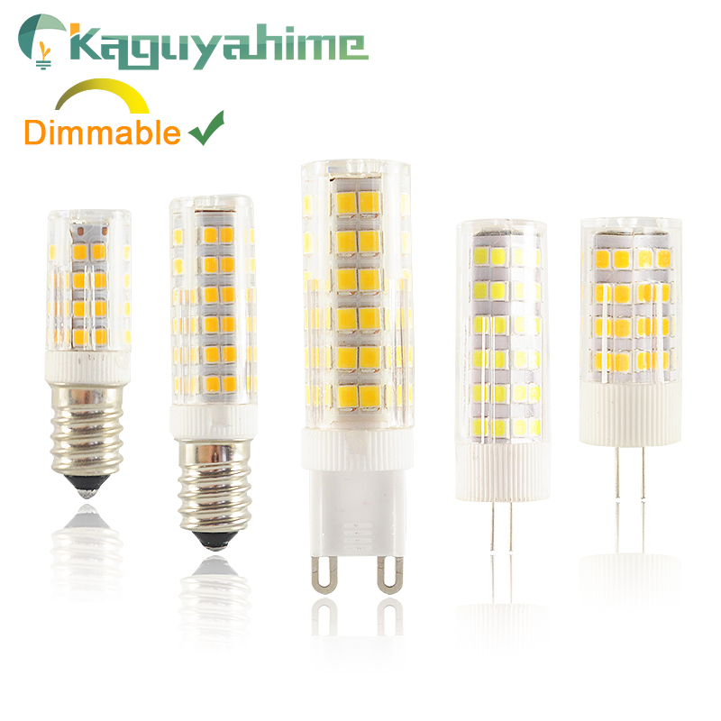 Kaguyahime Dimmable LED G4 G9 E14 Lamp Bulb Ceramics DC 12V AC 220V 3W 6W 9W COB G9 Led G4 For Chandelier Replace Halogen Lamps
