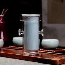 Heißer verkauf Blau und Weiß Handwerk Teekanne Puer Teekanne Büro & reise Teekanne China Fabrik Hitzebeständigem glas teekanne freies verschiffen