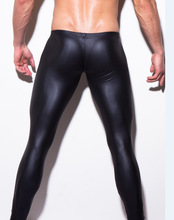 Elastic Faux Leather Leggings