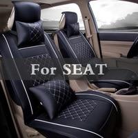 Fashion Luxury Pu Leather Car Seat Cover Vehicle Cover Case Stickers For Seat Cordoba Leon Toledo Mii Exeo Cupra Ibiza