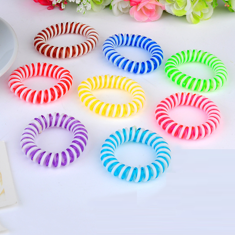 Vigueur 3PCS/LOT Gilrs Elastic Hair Band Telephone Wire Line Cord Hair Accessories Gum Silicone Headbands for Long Hair Women