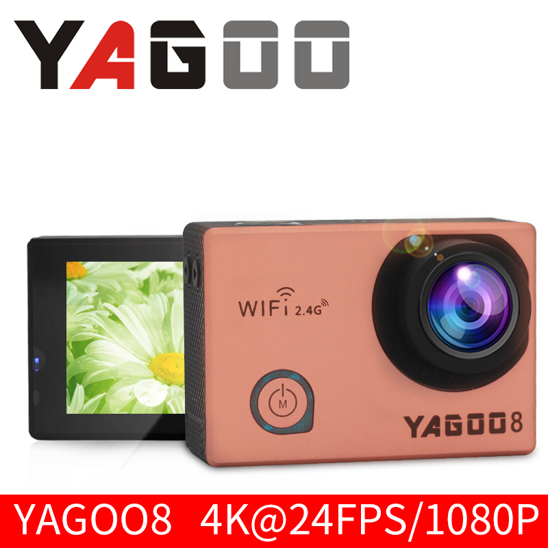 Action camera deportiva Original YAGOO8 remote Ultra HD 4K WiFi 1080P 60fps 2.0 LCD 170D pro sport waterproof go remote camera original eken ultra hd 4k video sports cam 2 inch 170d 1080p 60fps deportiva action camera h9r with camera accessories to choose