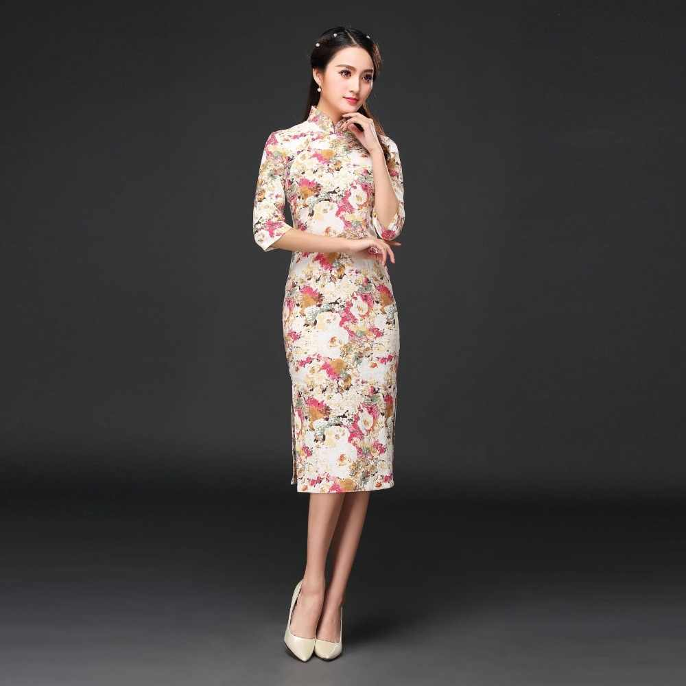 03ca7420c ... Summer New Chinese Traditional Cheongsam Women's Cotton Linen Qipao  Elegant Long Dress Slim Dress S M L XL ...