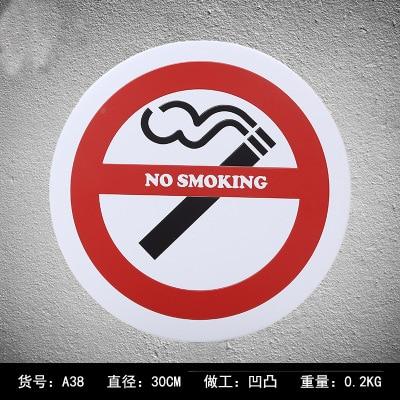 Circle No Smoking Metal Plates Vintage Warning Metal tin sign Bar Wall arts Home Metal painting signs Bar Pub 30cm