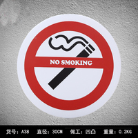 Circle No Smoking Metal Plates Vintage Warning Metal tin sign Bar Wall arts Home Metal painting signs Bar Pub 30cm
