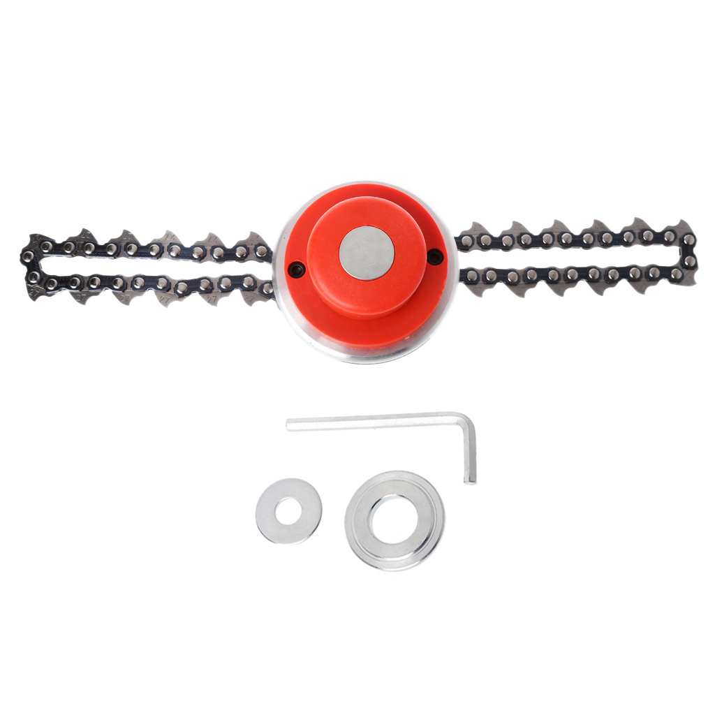 Alert Universal Trimmer Head Coil Chain Brush Cutter Garden Grass Trimmer Head Upgraded With Thickening Chain For Lawn Mower Less Expensive Garden Tools