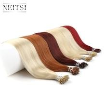 """Neitsi прямые микро бусины нет Реми нано кольцо связи человеческие волосы для наращивания 16 """"20"""" 24 """"1,0 г/локон 50 г 100 г блонд черный 20 цветов"""