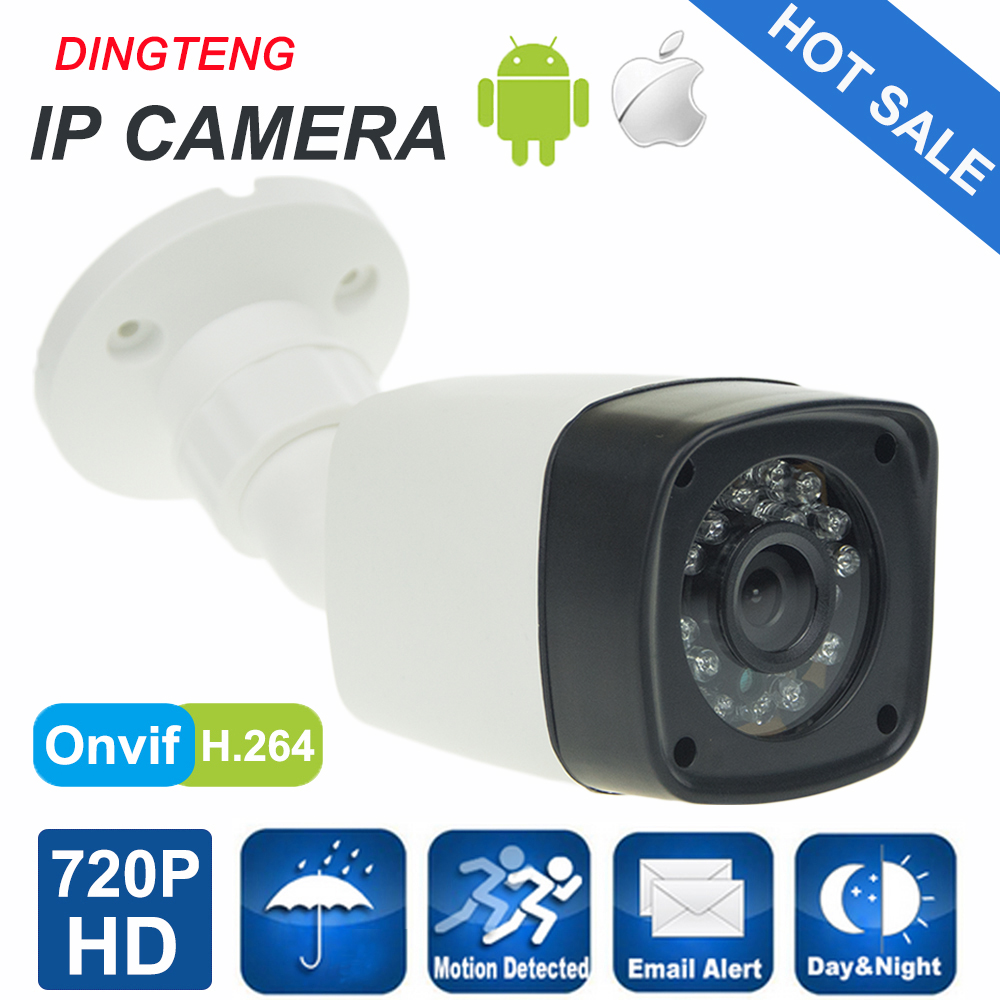 1MP IP Camera 720P Full HD camera IP outdoor p2p Night Vision Waterproof CCTV Camera IR-CUT  Housing CCTV Camera System advanced 128gb cctv camera 50 meters night vision waterproof housing