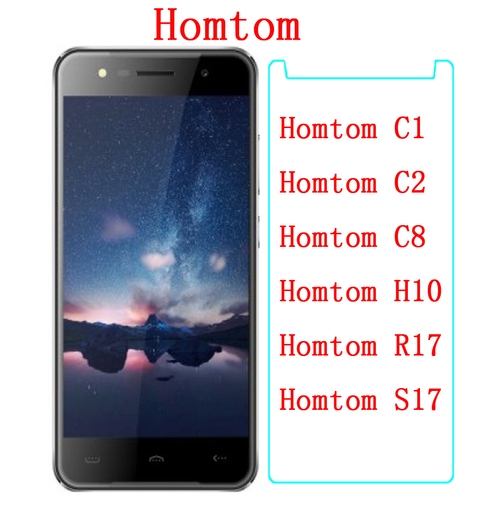 Premium Tempered Glass For Homtom C1 C2 C8 H10 R17 S17 Screen Protector 9H Toughened Protective Film Phone Protective FOR Homtom(China)