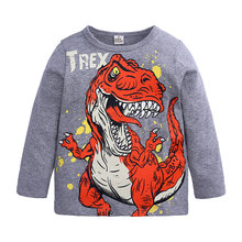 boy t shirts long sleeve for children baby boy casual cartoon dinosaur brand fashion boy t shirt boys Tops & Tees