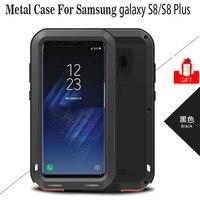 Galaxy S8 Case LOVE MEI Powerful Luxury Doom Metal Armor Shock Proof Aluminum Coque Case For