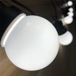 Image 4 - Vunji 42ft G50 Festoen Led Globe Lamp Led String Lights Outdoor Led Bal String Waterdichte Garland Wedding Party Patio Achtertuin