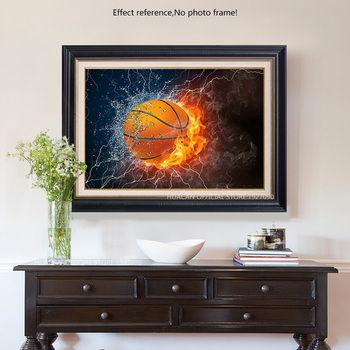 HUACAN Diamond Mosaic Basketball 5D DIY Diamond Painting Cartoon Full Drill Square Picture Of Rhinestone
