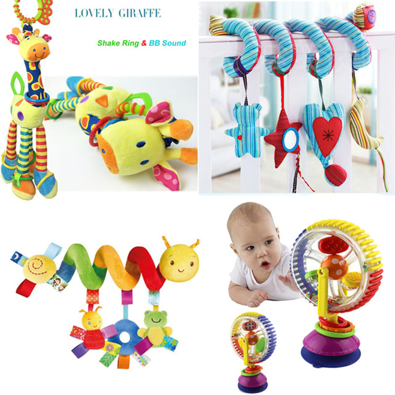 Soft Baby Toys 0-12 Months Musicical Crib Bed Stroller Toy Spiral Toys For Baby 0-12 Months Education Toys Bed Bell Rattle