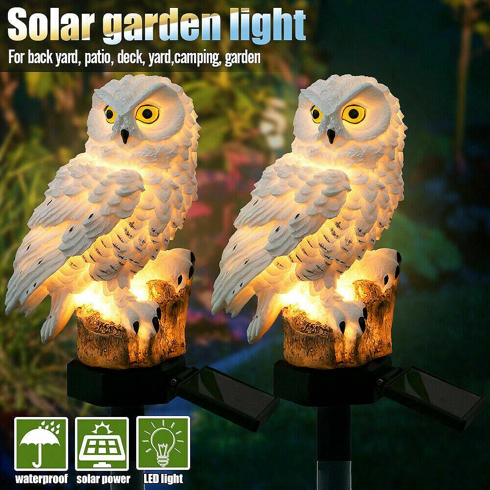 Escultura Novidade Coruja Solar Gramado Luzes LED