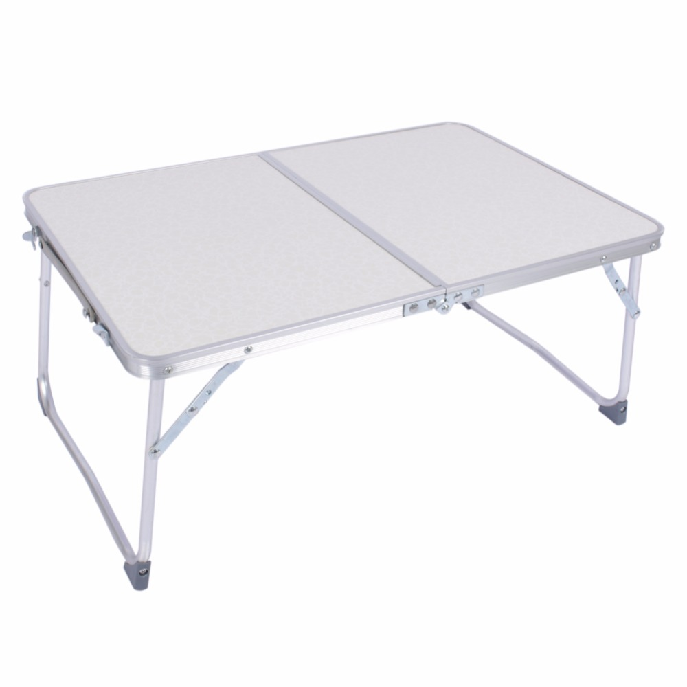 1pc White Multifunctional Light Foldable Table Picnic