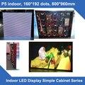 P5 крытый простой кабинета светодиодный экран 160*192 точек 800 мм * 960 мм ультра-тонкий светодиодный модуль кабинета 1/16 сканирования дисплей светодиодный экран