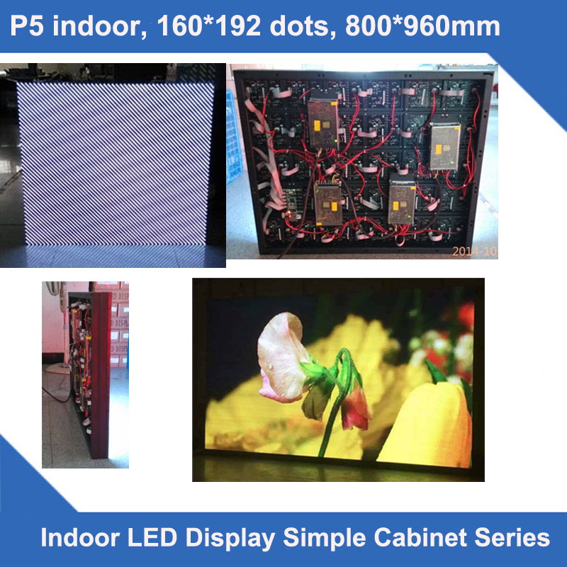 TEEHO P5 indoor simple cabinet led screen 160*192 dots 800mm*960mm ultra slim led module cabinet 1/16 scan display led screen