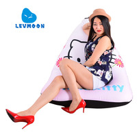 LEVMOON Beanbag Sofa Chair Hello Kitty Seat Zac Comfort Bean Bag Bed Cover Without Filler Cotton