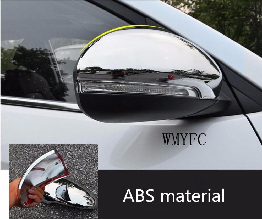 Abs Chrome Side Door Mirror Covers Rear View Mirror Trim Frames