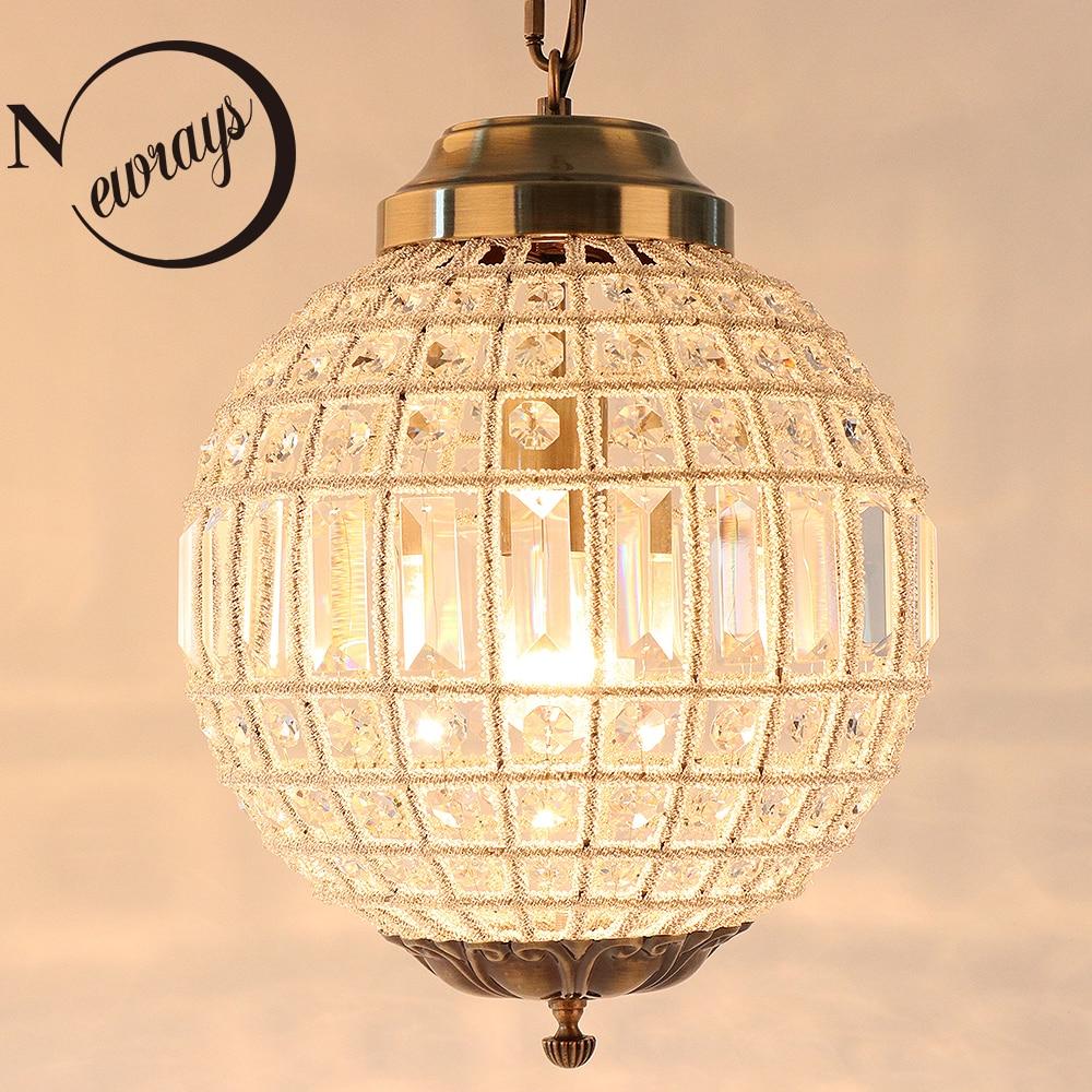 Royal Empire Vintage Estilo Bola E27 Grande Led lustres de Cristal Moderna do Candelabro da lâmpada de luz para sala de estar quarto casa de banho do hotel