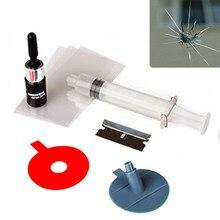 cfb1aaeab DIY Car Windscreen Windshield Repair Kit ferramentas Auto Vidro reparação  conjunto Dar Maçaneta da porta de Proteção Adesivos De.